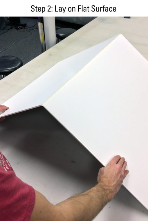 jumbo split panel foamcore setup step 2