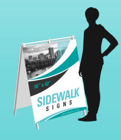 "Printed 36"" x 42"" rigid pvc a-frame sidewalk sign"