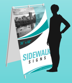 "Printed 36"" x 60"" rigid pvc a-frame sidewalk sign"